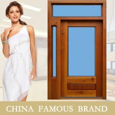 广东2014年新款免漆门 设计师推荐款式 双扇带固定窗 品牌实木复合门定做