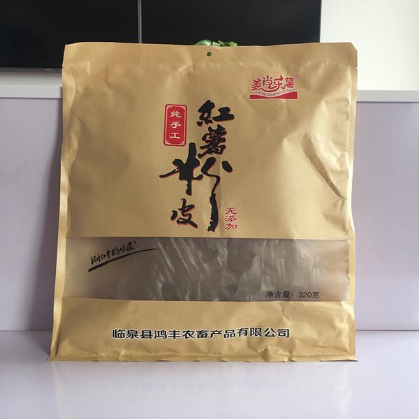 姜尚乐薯手工红薯粉皮 纯红薯 粉皮 阜阳特产 粉皮320g袋装
