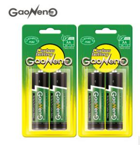 厂家批发直销环保碳性7号2粒卡装干电池高容量环保可出口认证