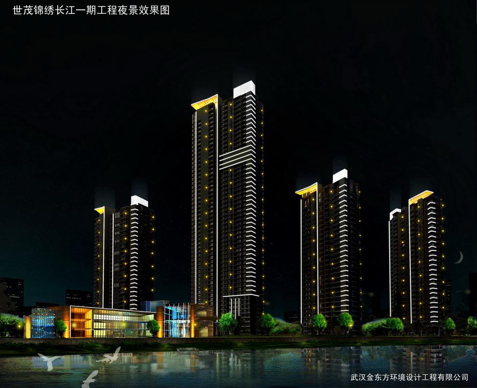 武昌楚汉路夜光景观街首次全线亮点