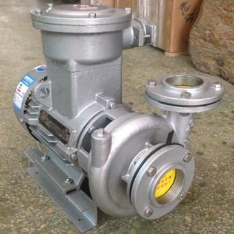 供应 机械304不锈钢耐腐蚀防爆水泵 卧式单吸式电动化工离心泵
