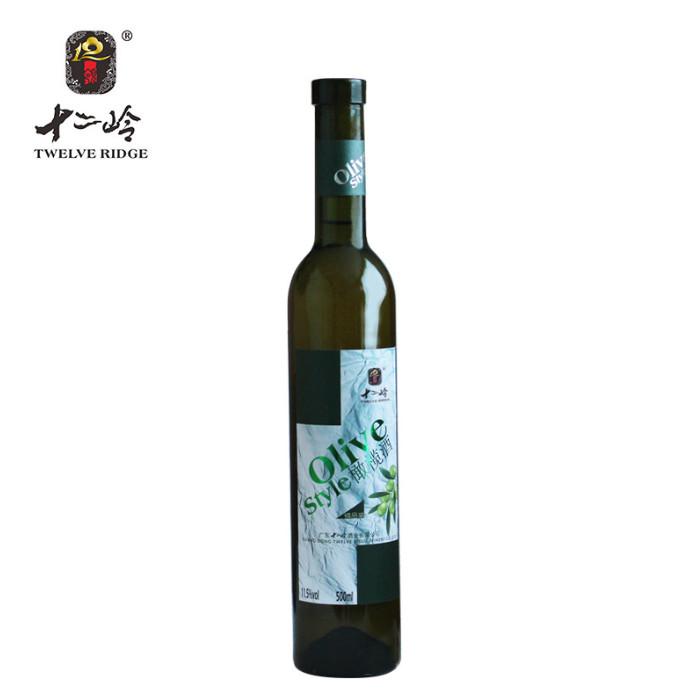 十二岭果酒橄榄酒500ml瓶装特色橄榄发酵果酒健康水果酒