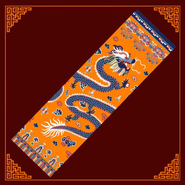 藏式寺院龙抱柱毯图片