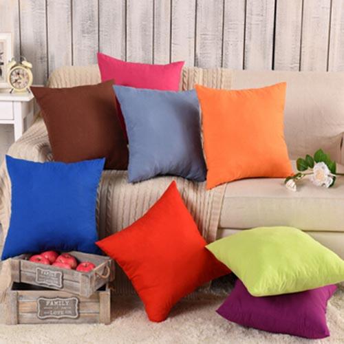 厂家直销 特价素色办公室腰靠沙发椅子抱枕靠垫 纯色汽车垫 礼品