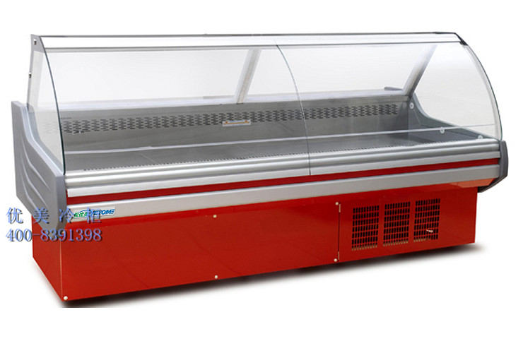 厂家直供优美冷柜 超市冷柜秒列 掀盖式熟食冷柜