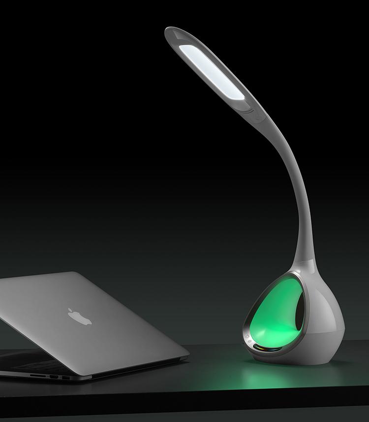 新款LED护眼台灯 LED七彩小夜灯HHS-T5 阅读台灯批发