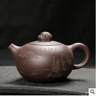 宜兴紫砂壶 原矿朱泥 正品名家手工制作 现代紫砂西施壶茶壶