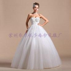 2014新款婚纱/抹胸齐地蓬蓬裙高贵优雅/手工串珠/2262