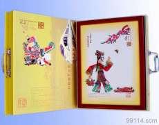 唐山皮影礼品——小旦游春