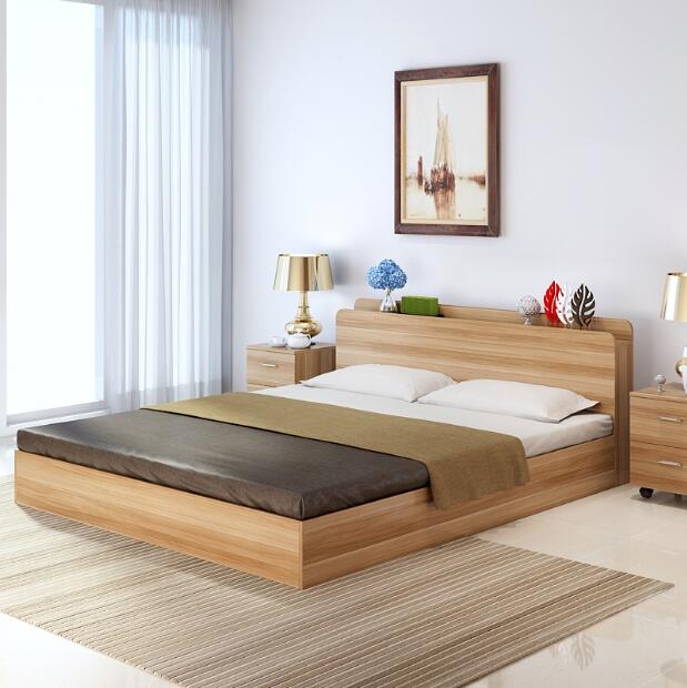 现代简约榻榻米板式床1.图片