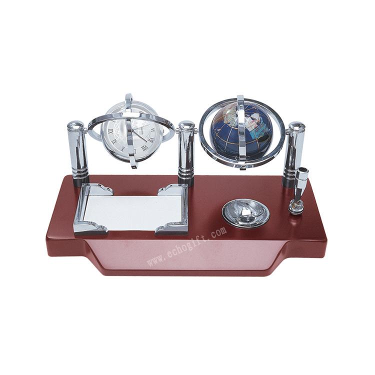 厂家批发水晶地球仪礼品摆件金属工艺品办公笔座装饰品定制0186A
