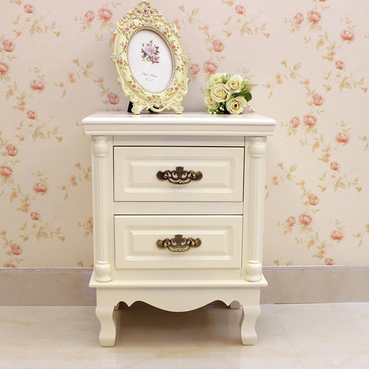 抽屉储物柜产品,图片仅供参考,欧式五斗柜实木白色橱卧室床头收纳柜图片