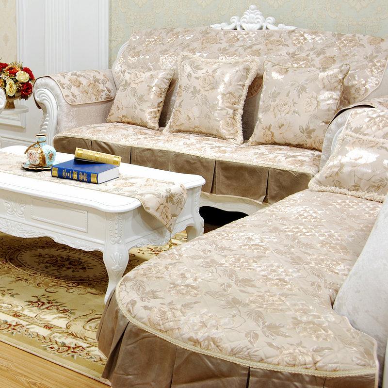 高档奢华布艺提花沙发垫坐垫扶手巾欧式沙发套贵妃垫批发一件代发图片