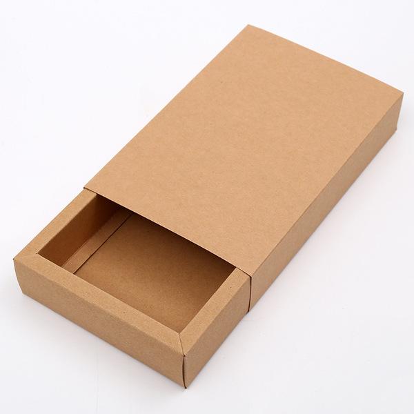 现货供应折叠纸盒茶叶包装礼盒定制进口牛皮纸抽屉式包装盒