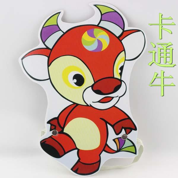 新款12生肖头饰幼儿园儿童节日表演面具卡通舞会玩游戏道具黄奶牛