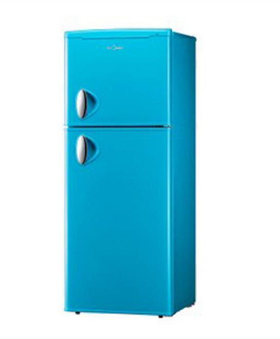 美的 BCD-132CM 立式双温冰箱 上冷冻下冷藏家用