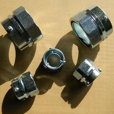 福莱通DKJ型薄壁钢管连接器 三柱顶丝无螺纹钢管连接卡套式接头多种材质加工