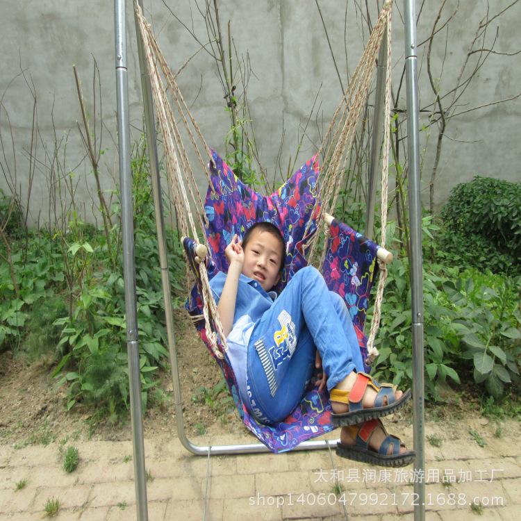 厂批发新款牛津布吊椅户外室内创意秋千正品高档牛津布吊椅配绑绳