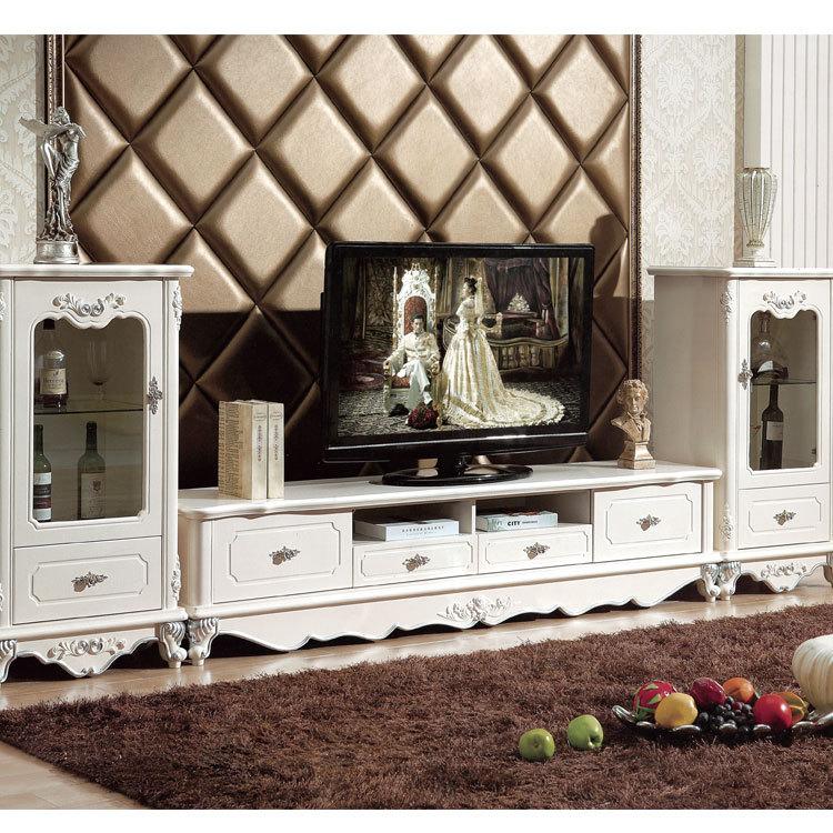 简欧电视柜酒柜客厅家具欧式时尚经典实木雕花大理石电视柜家具图片