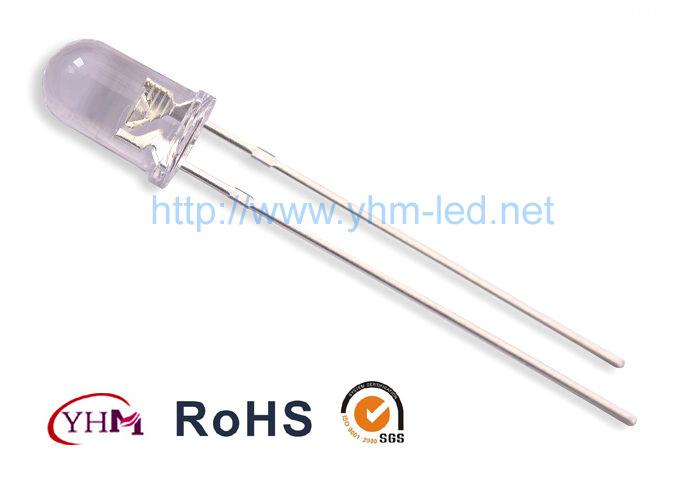 现货供应5MM圆头紫光UVLED灯台湾芯片5MMUV验钞紫光LED灯珠 金线