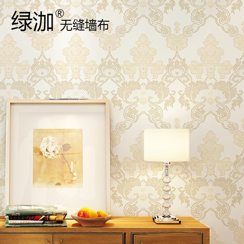 绿泇无缝墙布简约欧式电视背景墙壁布客厅卧室壁布墙布a5-07-08图片