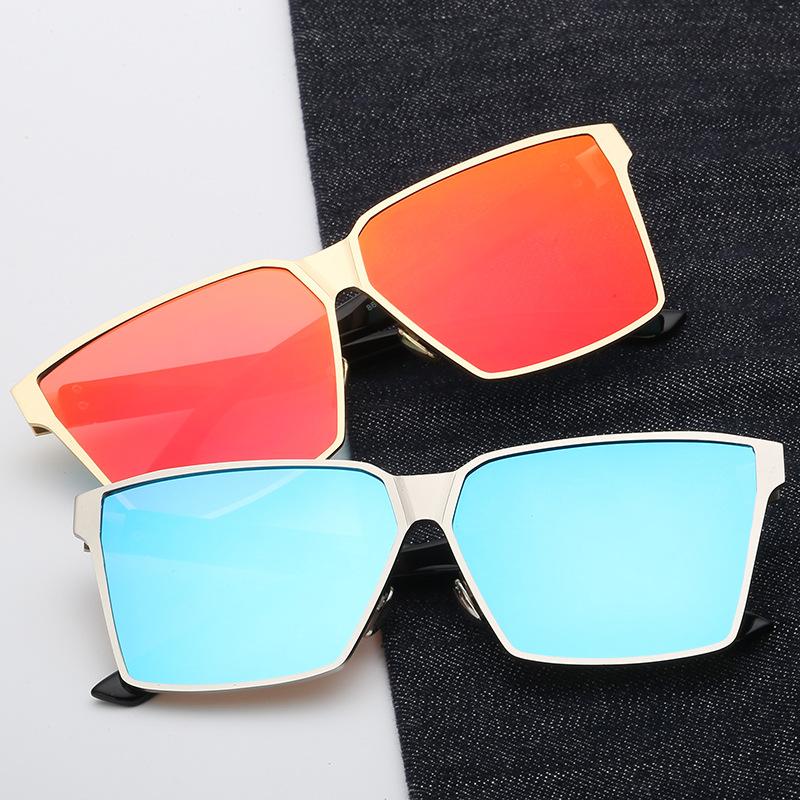 大框新款太阳镜男女士通用大方框时尚驾驶墨镜彩膜反光太阳眼镜潮