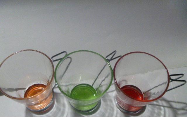 喷色玻璃杯,颜色丰富,铁架杯,来样定制