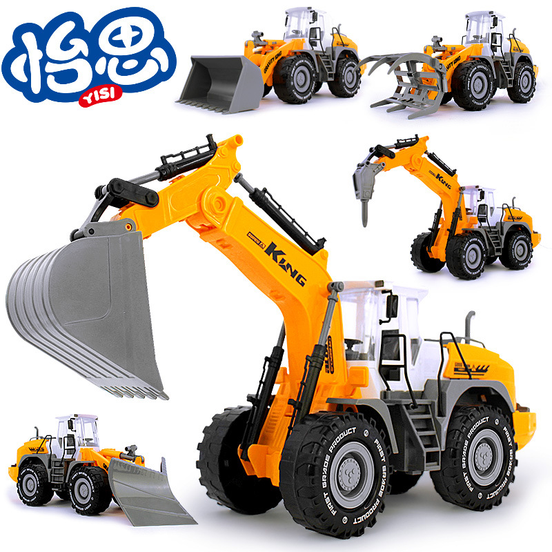 超大号仿真挖土儿童益智玩具惯性工程车挖掘机模型厂家直销批发