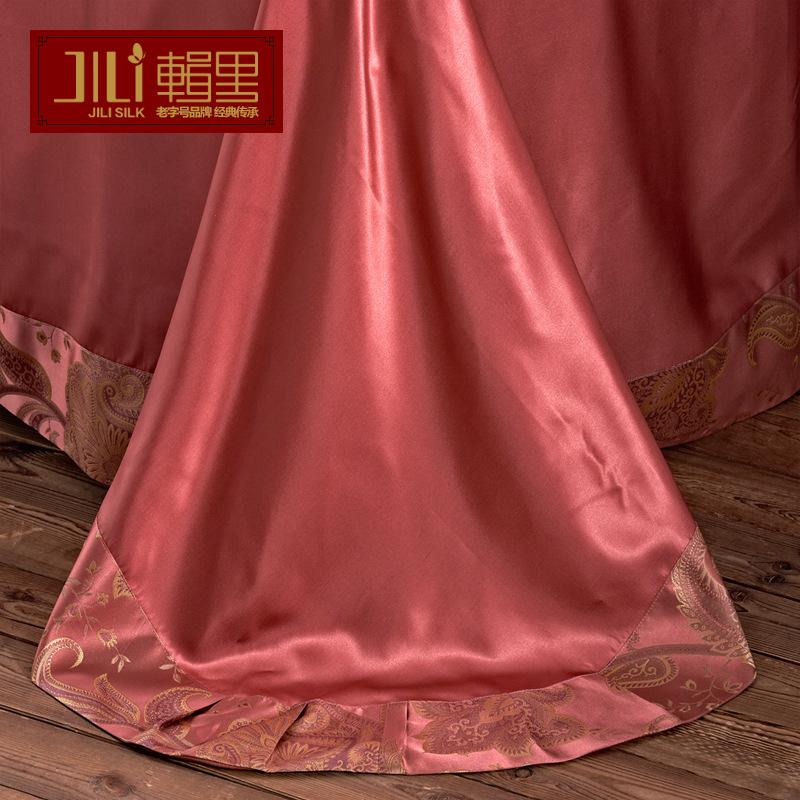 辑里正品真丝色织2.0米四件套100桑蚕丝A版25姆米B版19姆米可定制