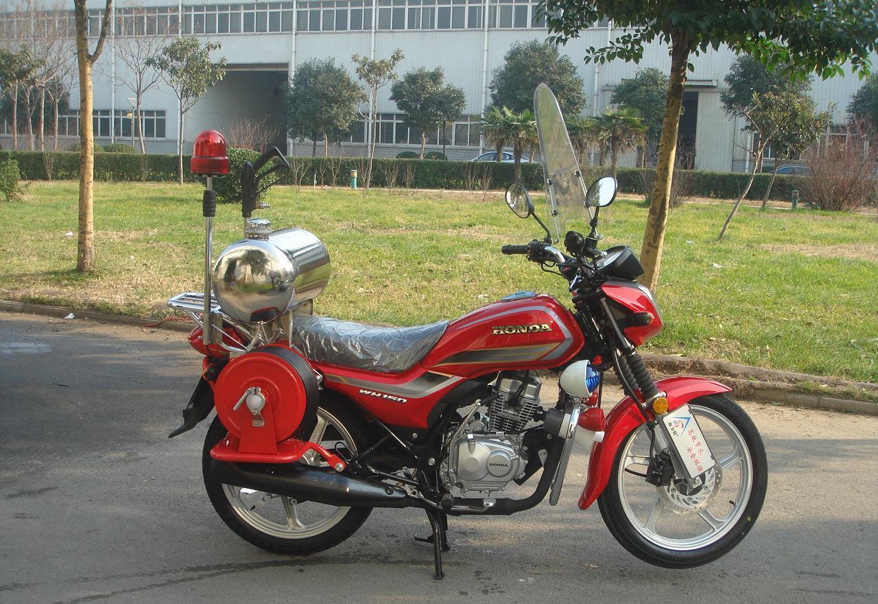 请注意:本图片来自郑州安信化学有限公司提供的高压细水雾 消防摩托车