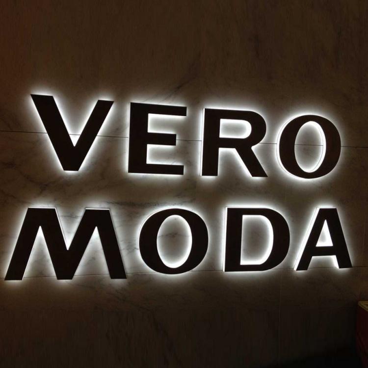 厂家直销背打光发光字 背打光字 广告招牌字 不锈钢字led发光字图片