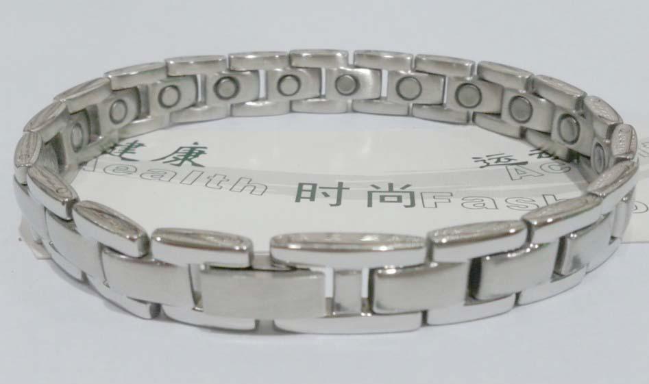 供应现货混批优质316不锈钢磁性手链