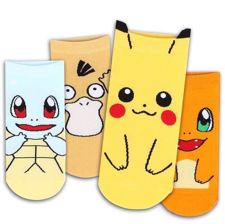 pokemon袜子wish 速卖通袜宠物小精灵运动可爱袜子皮卡丘卡通袜子图片