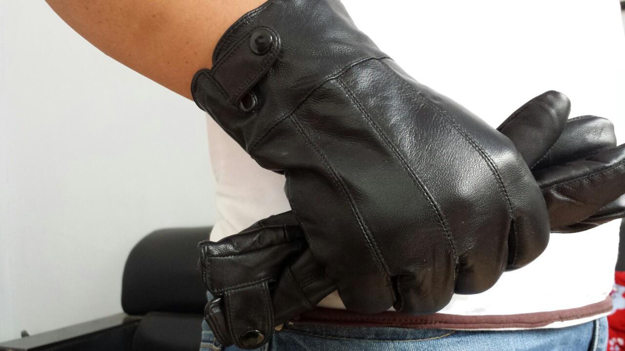 厂家直销新款男士休闲时尚保暖单扣羊皮拼皮手套外贸手套