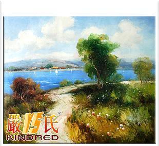 严氏艺术-纯手绘油画 风景油画 家居装饰画 海滩小路yspt1002200