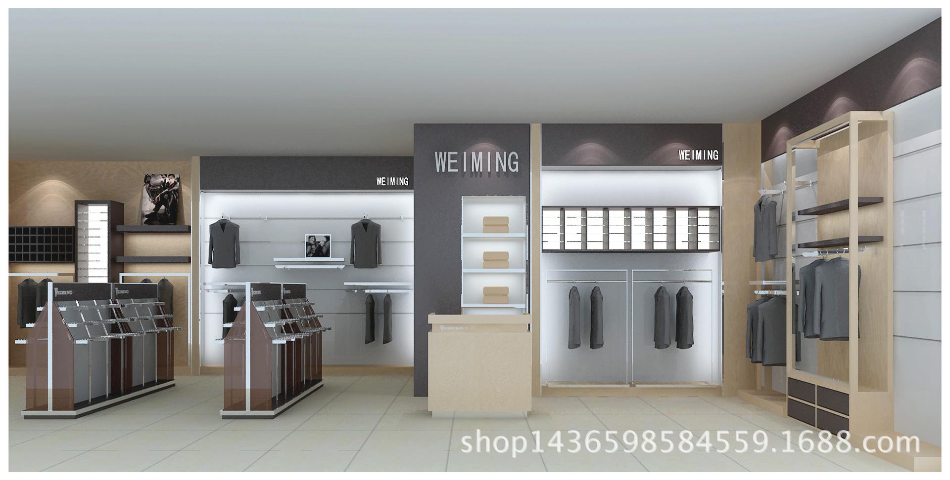 长期销售 高档 服装展柜 商场展示柜台 工厂 货柜定做 低价