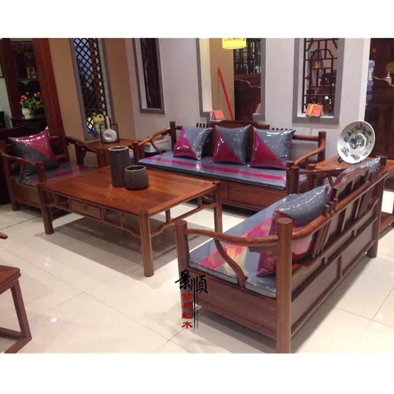 红木家具客厅沙发新中式刺猬紫檀现代沙发花梨木实木沙发工厂批发