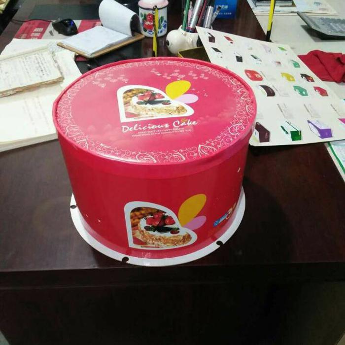 现货生日蛋糕盒厂家直销三合一圆盒三禾包装三合一6810121418寸图片