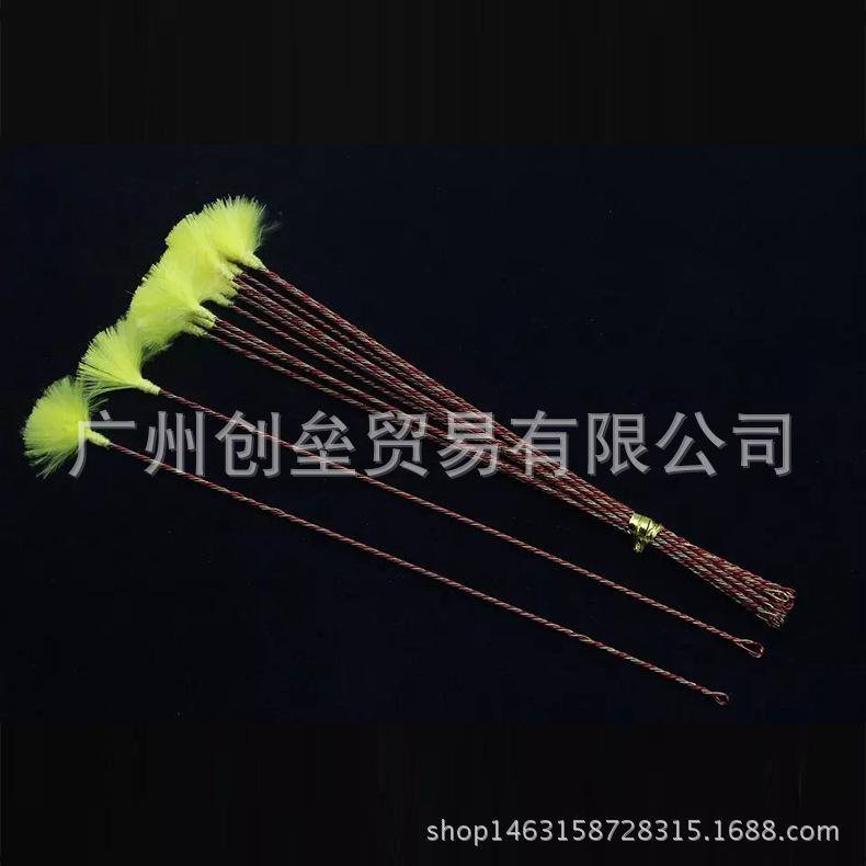 采耳工具 铜丝纯手工制作 荧光绿鹅毛棒专用 铁丝耳毛 采耳棒批发