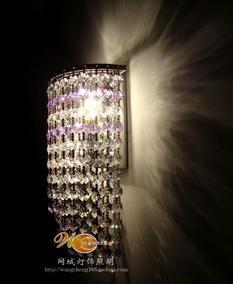 网城 厂家直销水晶壁月亮水晶壁灯古镇壁灯酒店客房水晶壁灯