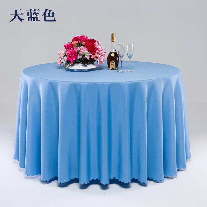 厂家批发酒店餐厅涤纶桌布 平纹会议台裙 婚庆台布提花圆桌布订做