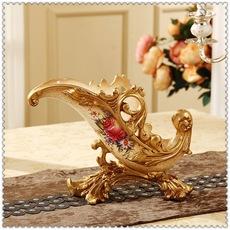 高档家具摆件奢华家居装饰品红酒架摆设欧式工艺 品客厅酒柜装饰