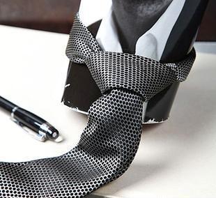 雅慕男士商务正装黑色真丝领带100%桑蚕丝商务礼品新品促销0