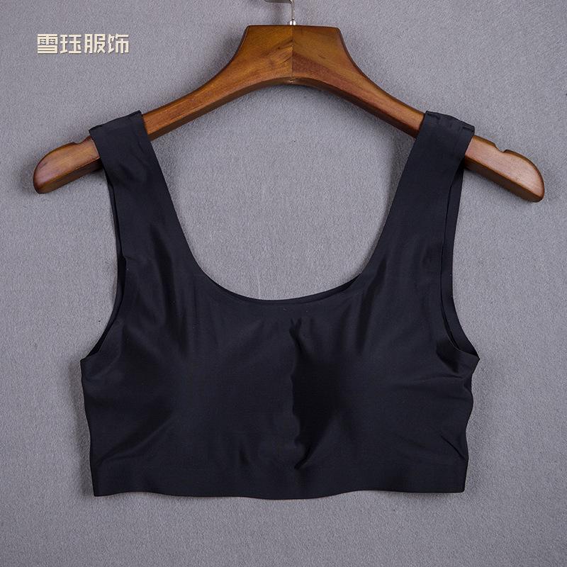 2016夏季新款莫代尔女士性感黑色抹胸小背心塑身裹胸厂家批发