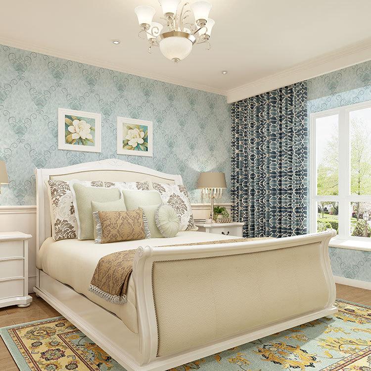 厂家新款欧式无缝墙布 丝绸环保墙布防水壁布 客厅卧室酒店墙布