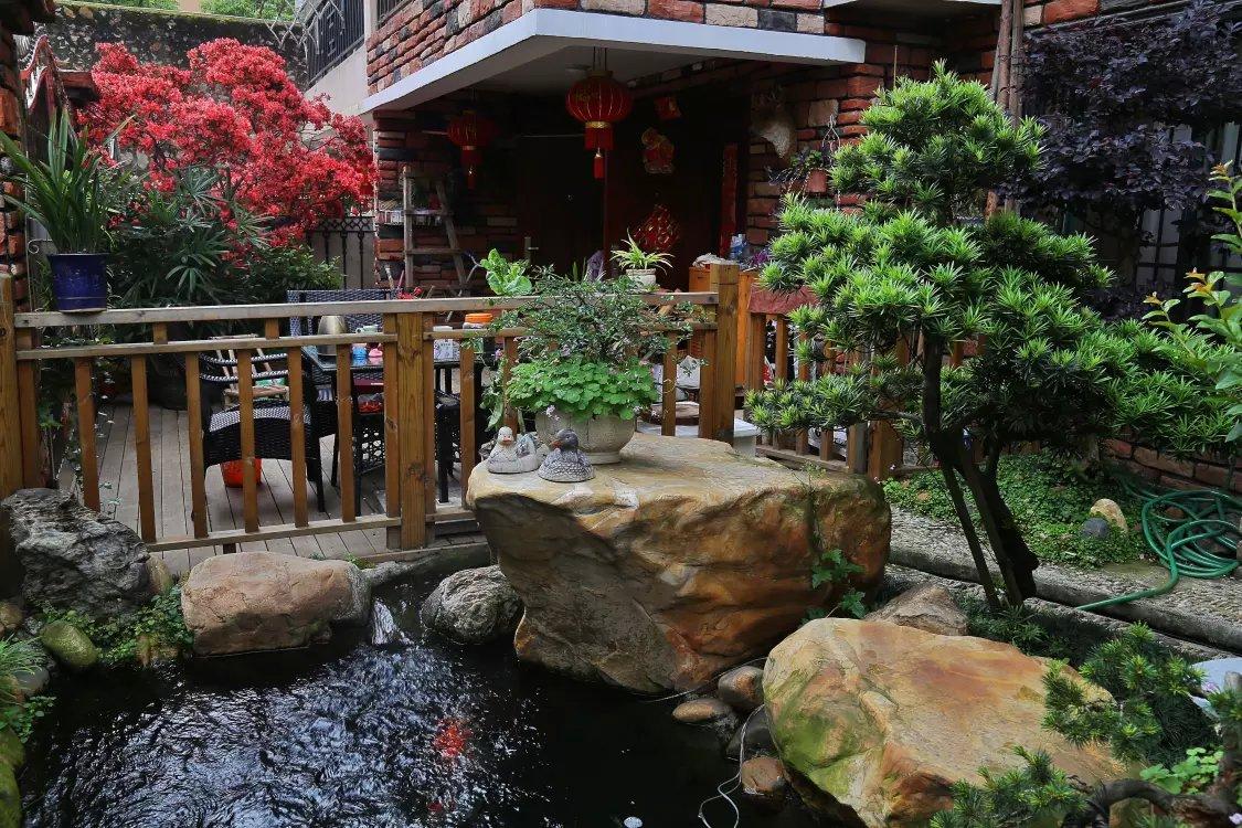 传世造园 庭院改造 园林设计 风水鱼池图片