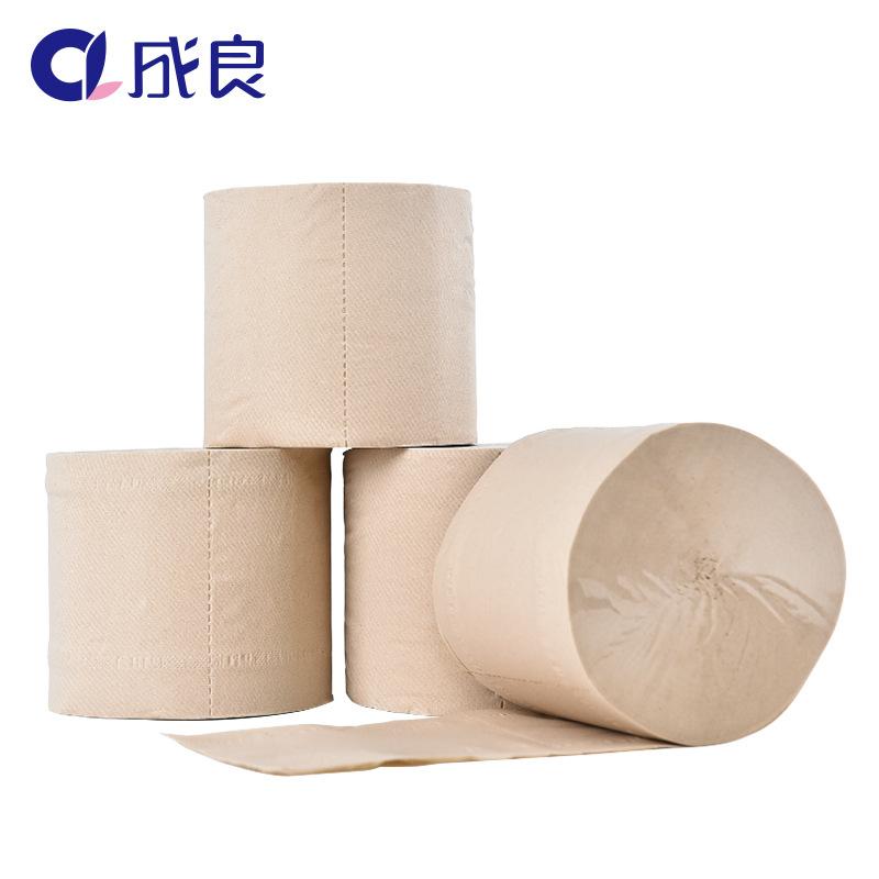成良本色卷紙 竹纖維本色紙無芯卷紙 卷紙衛生紙家用批發1800g
