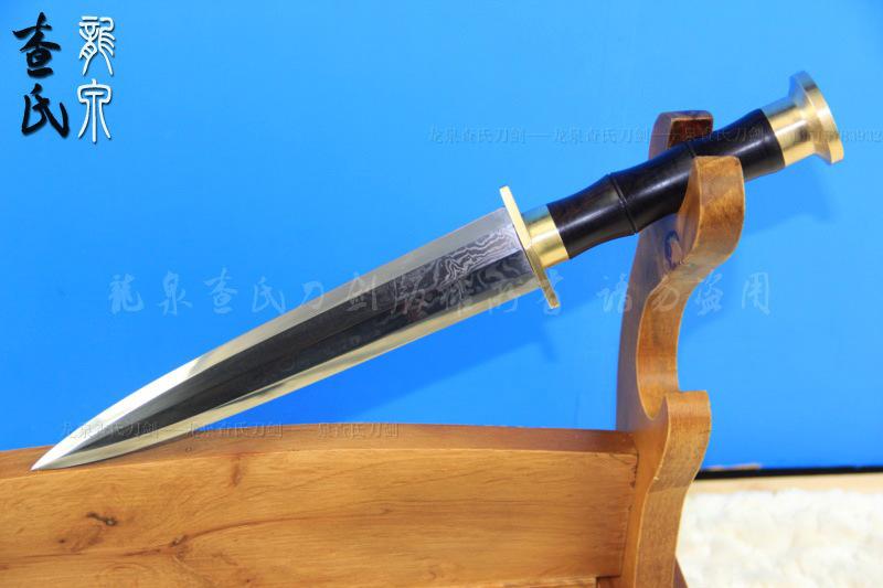 镇宅宝剑  【刃材】 百炼花纹钢 【工艺】 花纹钢手工打造 手工制作