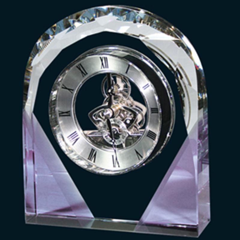 人造水晶加工 欧式水晶钟表摆件 水晶工艺品礼品 创意礼品定制