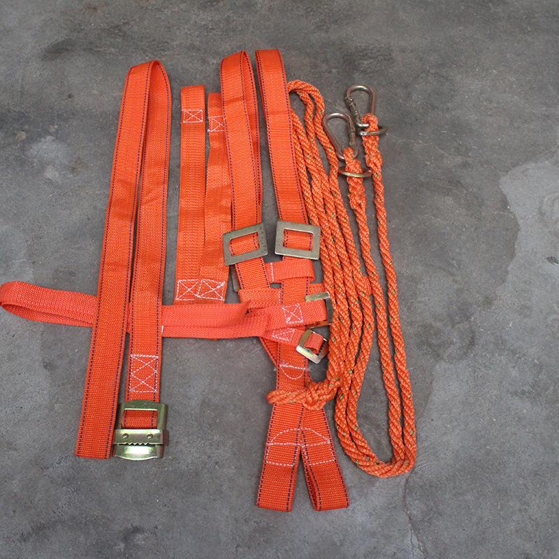 厂家直销建筑安全带连体小双钩2m绳 安全带